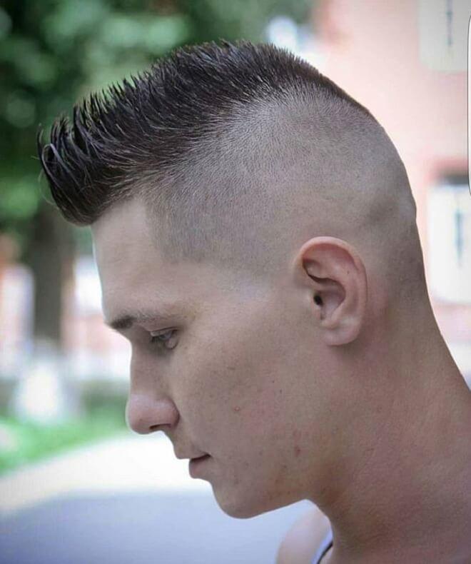 Short Spiky Hair with High Fade