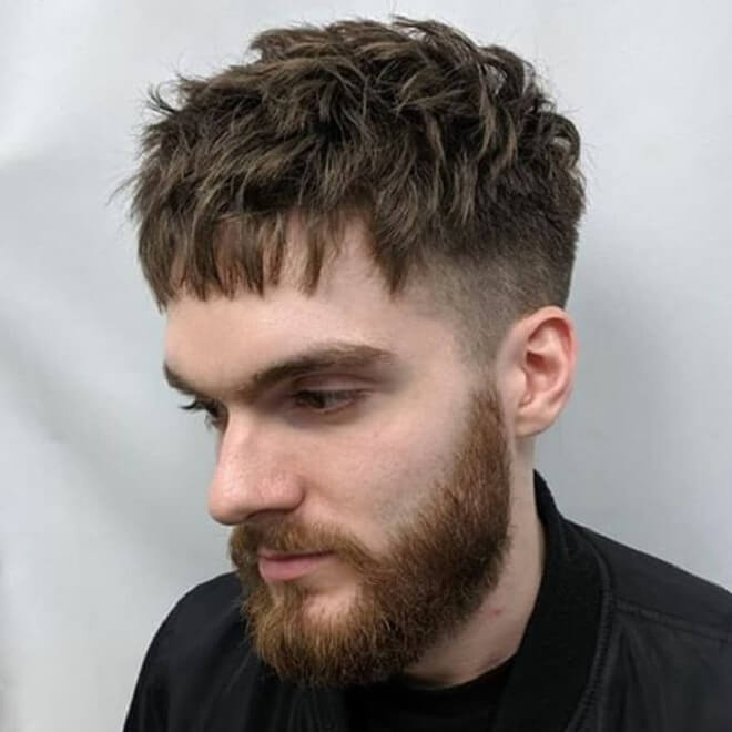 Short Textured Messy Hair with Bowl Cut