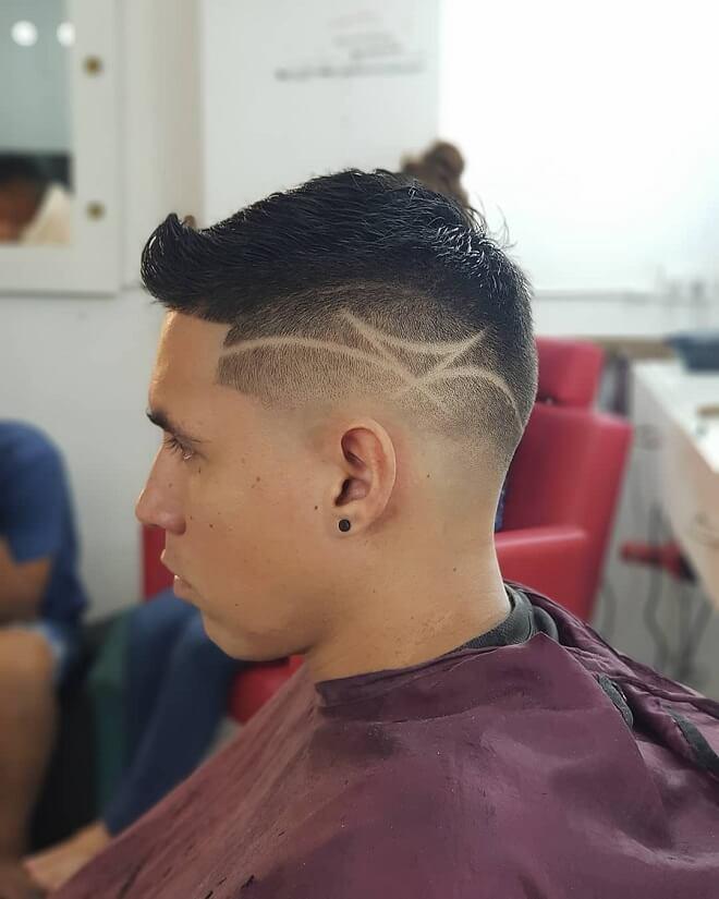 Side Part Haircut Design