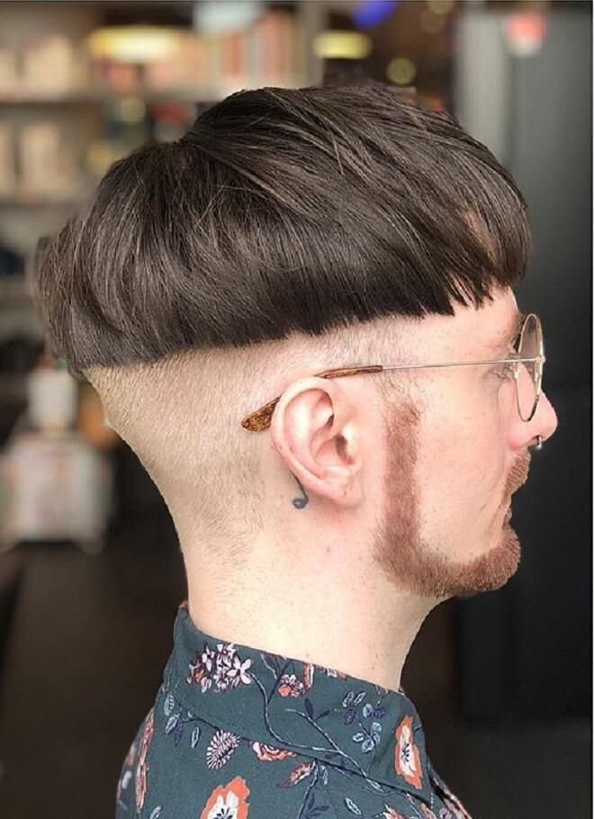 Skin Fade Bowl Cut