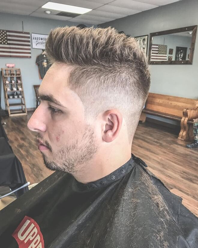 Skin Fade With Spiky Hair