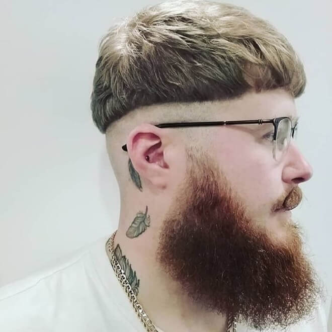 Skin Fade with Bowl Cut Hairstyle
