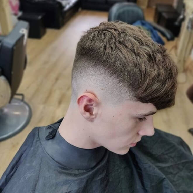 Skin Fade with Textured Messy Hair