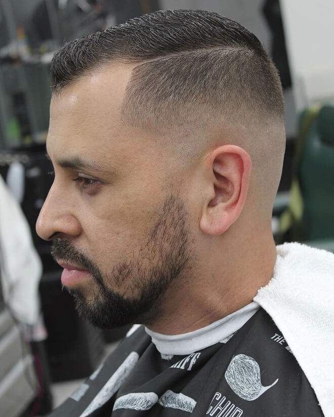 Skin Fade with Thin Comb Over
