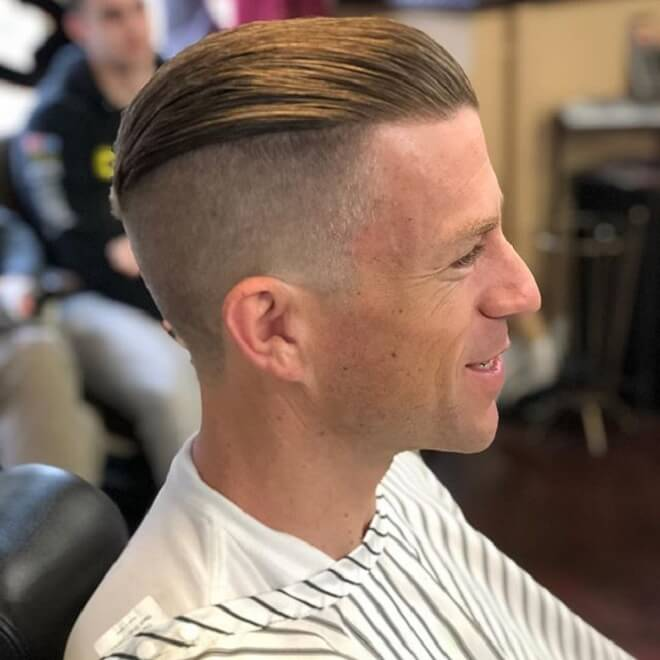 Slick Back with High Fade