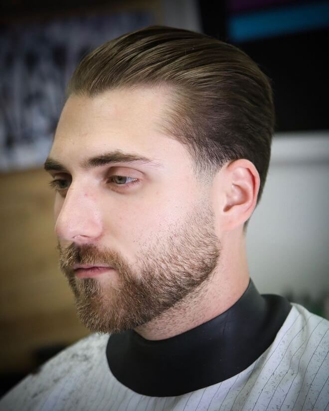 Slicked Back with Thin Hair