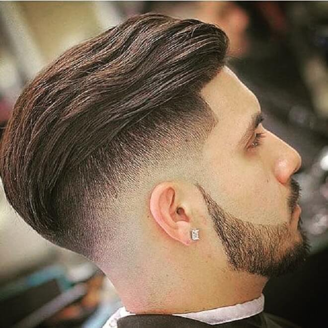 Slicked Back with Undercut