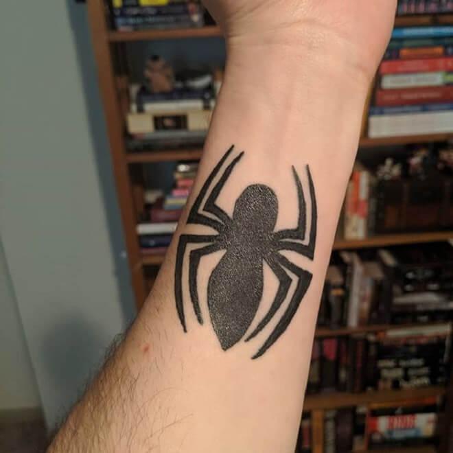 Spiderman Symbol Tattoo
