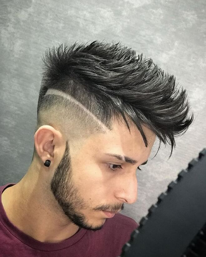 Spiky Faux Hawk with Disconnected Undercut