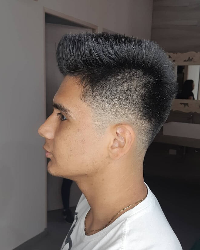 Taper Haircut with Spiky Hair