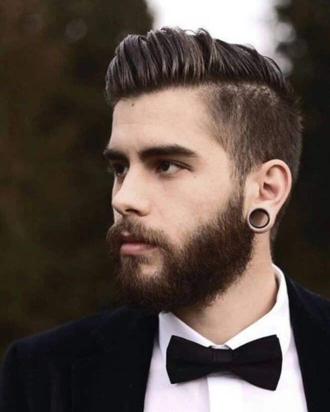 Taper Side with Swept Back Hair