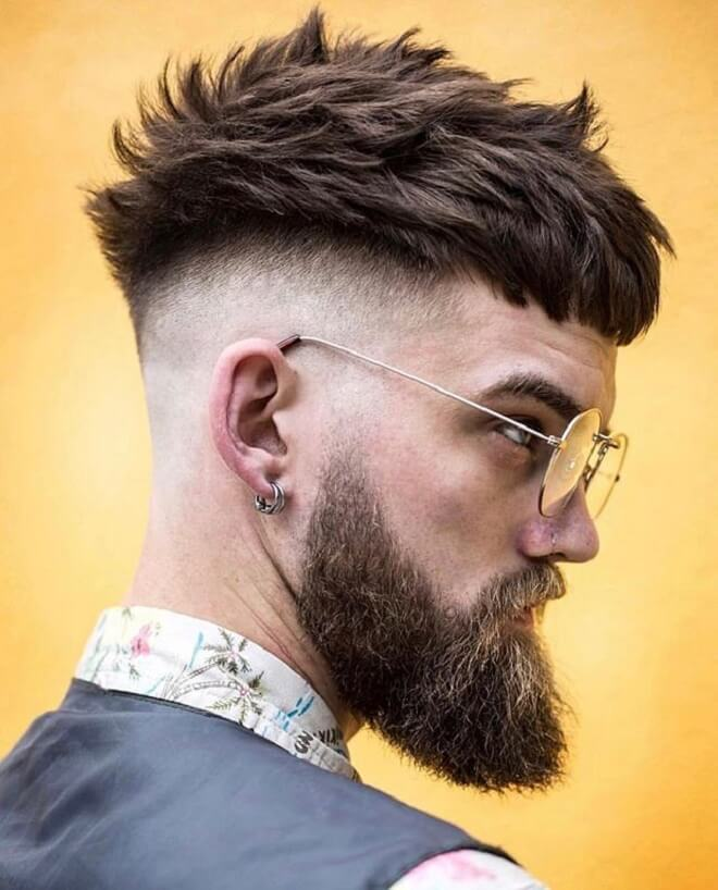 Textured Bang with Shaved Sides