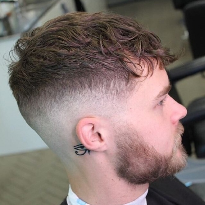 Textured Crop Cut with Skin Fade