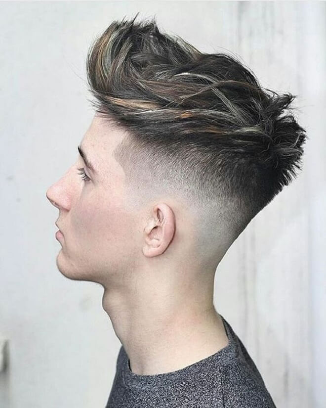 Textured Messy On Top with Skin Fade