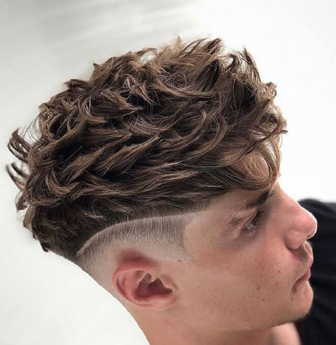Textured Spiky Hair with Low Skin Fade