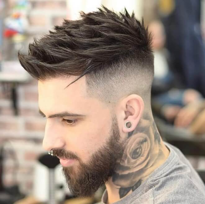 Textured Spiky Haircut with Skin Fade