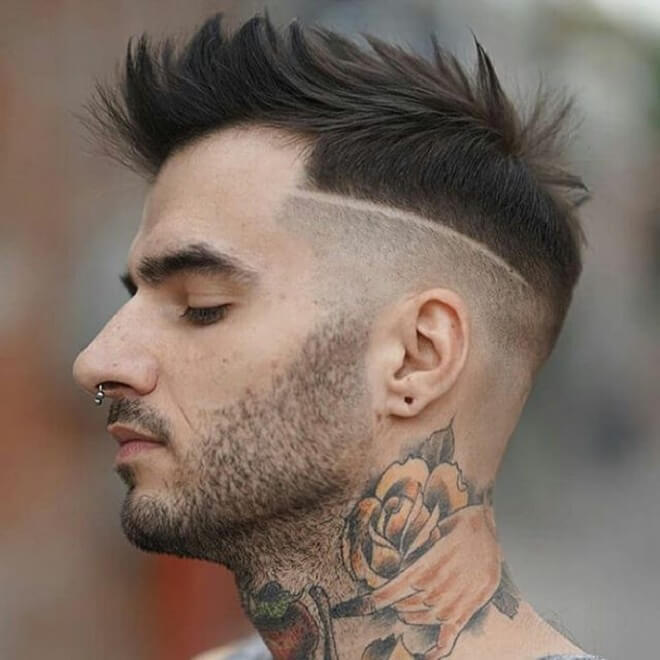 Textured Spiky with Line Hairstyle