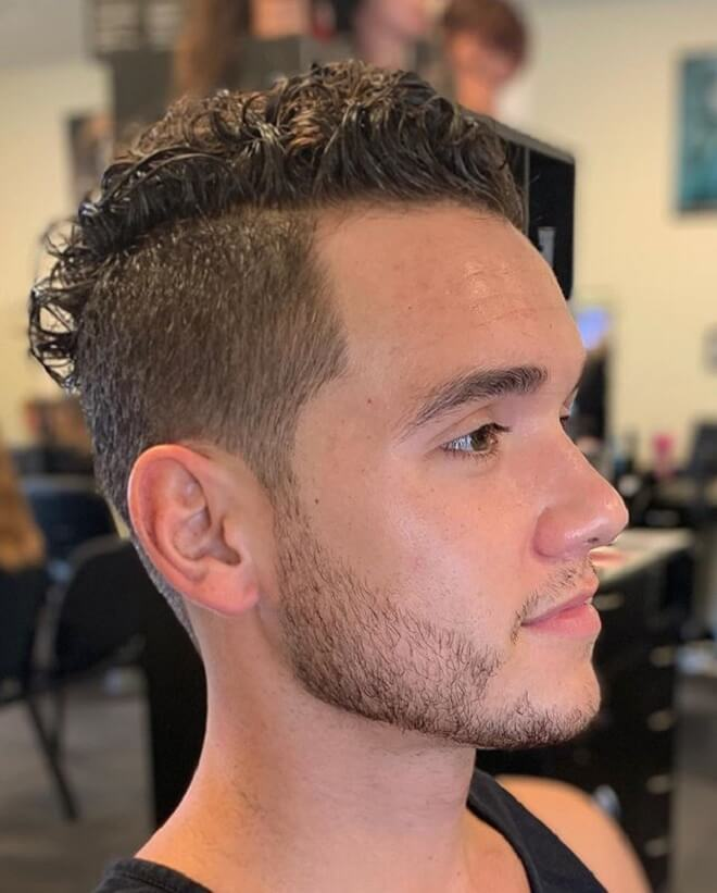 Top Curly Hair with Undercut