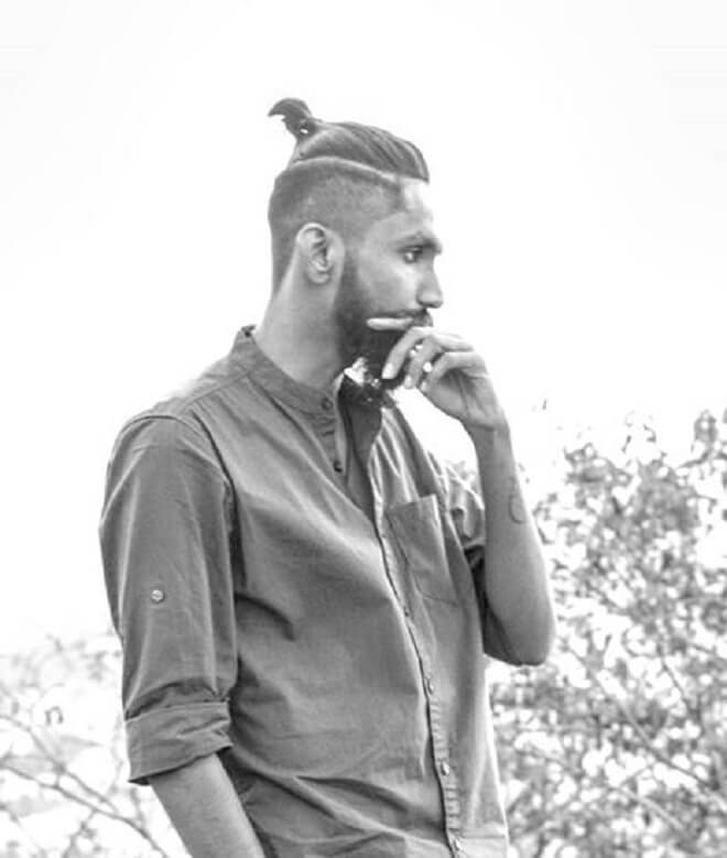 Top Knot with An Undercut