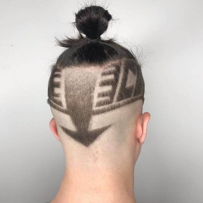 Top Knot with Hair Design