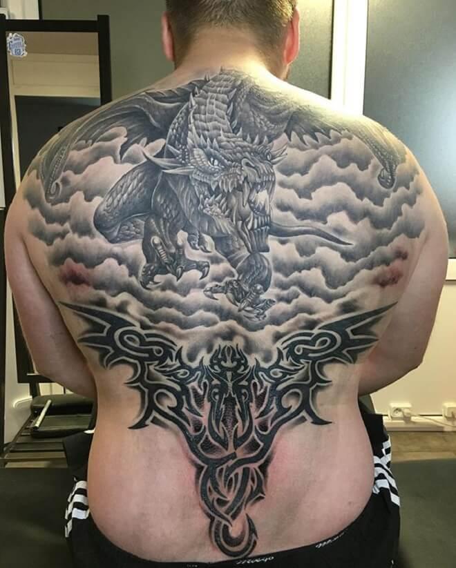 Tribal Back Tattoo Design