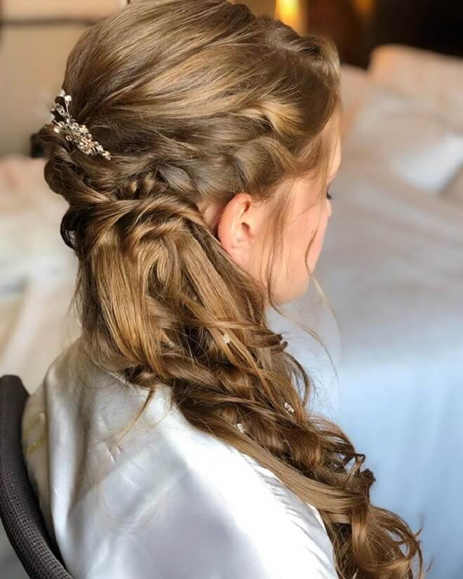 Twisted Updo with Ponytail