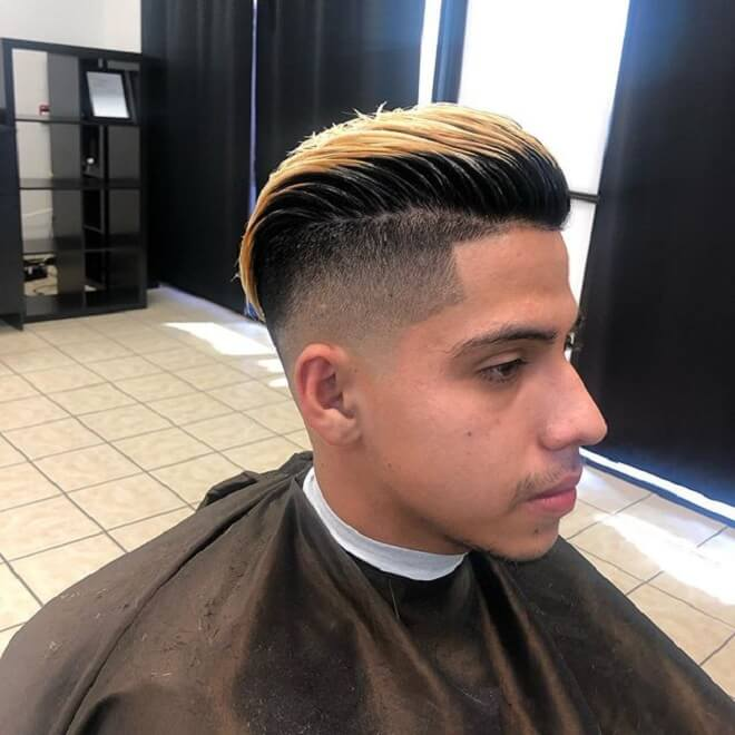Undercut Low Fade with Swept Back