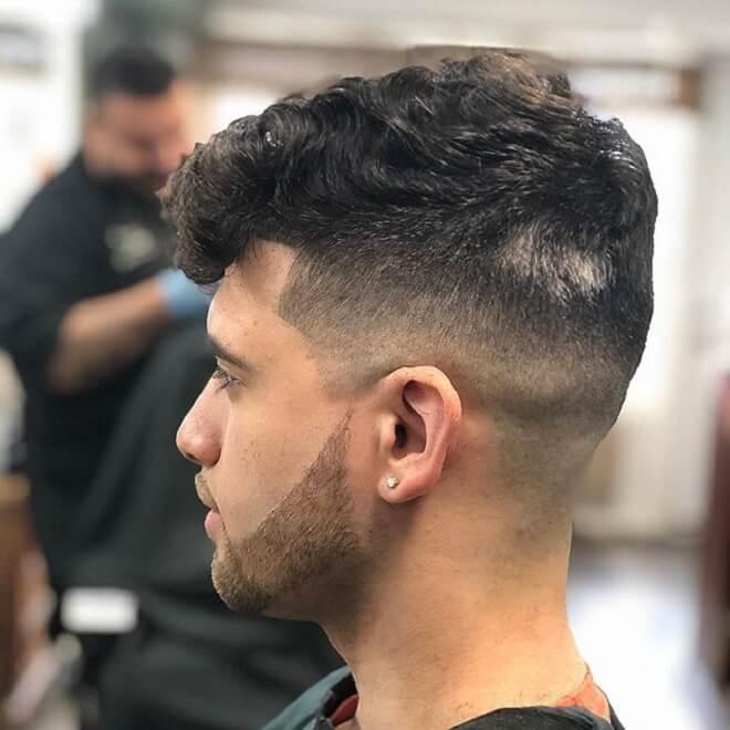 Undercut with Curly Wavy Hair