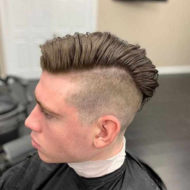 Undercut with Side Swept Hairstyle