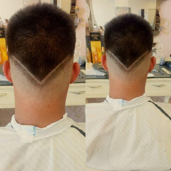 V Shape Haircut