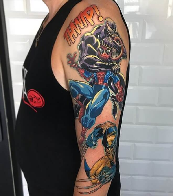 Vanom vs Spiderman Tattoo