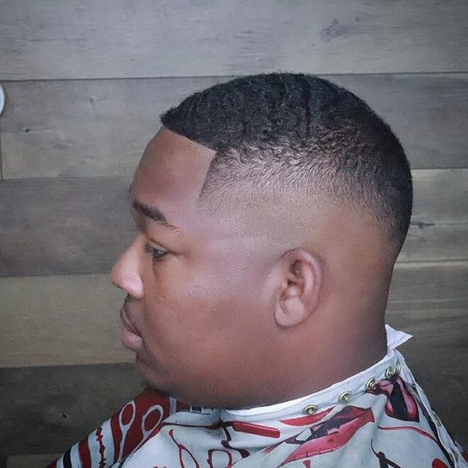 Wavy Haircut with Shaved Side