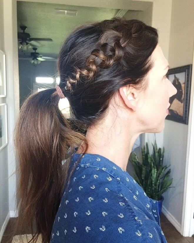 Wrapped Braid Ponytail